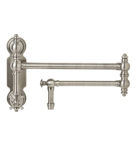 Waterstone 3150-WB Towson Wall Mount with Single Cross Handle Pot Filler Faucet, Weathered ()