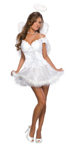 White Angel Costume (Secret Wishes  Heaven Sent Costume, White, X-Small)