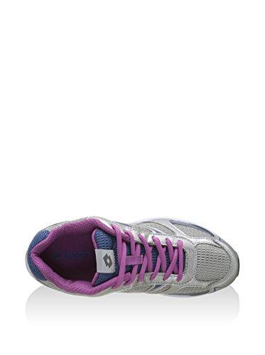 Blue 37 Fashion Lotto Sneakers Womens Canvas Silver EU FYwtq