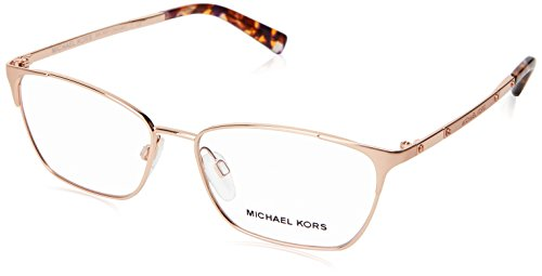 Michael Kors VERBIER MK3001 Eyeglass Frames 1026-52 - Rose - Gold Rose Frames Eyeglasses