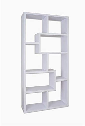 Furniture of America Adeo Contemporary Wood Display Cabinet Bookcase