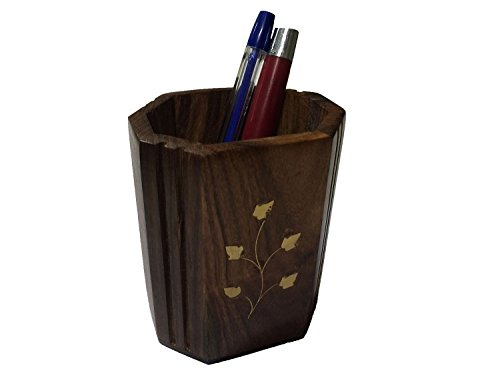 Executive Pencil Holder Wood - 8