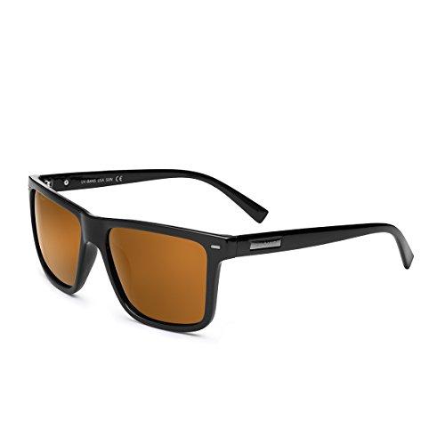 UV-BANS Polarized Sunglasses for Men Women,Retro Wayfarer Style,TAC UV400 - Sunglasses For Men Sexy