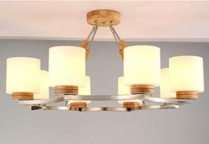 Fwef lampada legno legno camera di legno massello soffitto luce
