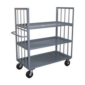 Stock Cart, 2 Slat Sides, 3 Shelves, 30x60 (Two Shelves Slat)