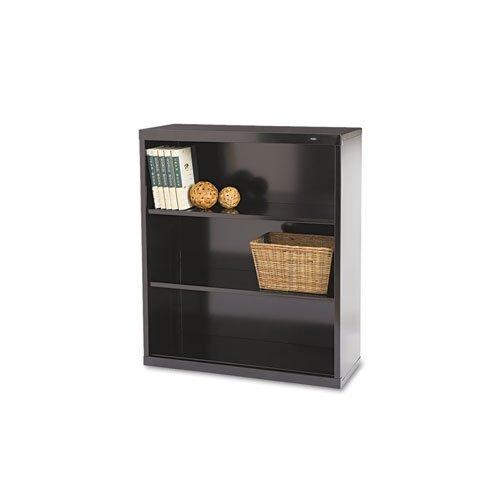 Welded Steel Bookcase, H 40, 2 Shelf, Black B-42BK Tennsco Steel Bookcases