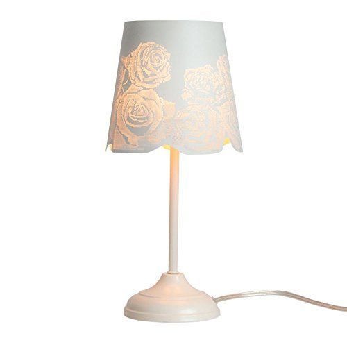 KANSTAR H9-NVE5-C0V0 Bed Side Table Lamp Desk Lamp with Lamp Shade (Rose), 7.6