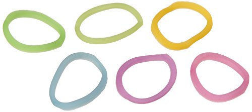 BlueDot Trading 600-Piece Rubber Band and S-Clips Refill Set for DIY Do It Yourself Bracelet Kit, Glow in The Dark