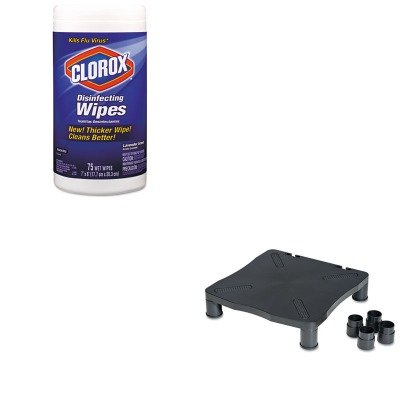 KITCOX01761EAKCS10367 - Value Kit - KELLY COMPUTER SUPPLIES Monitor/Printer Stand (KCS10367) and Clorox Disinfecting Wipes (COX01761EA)