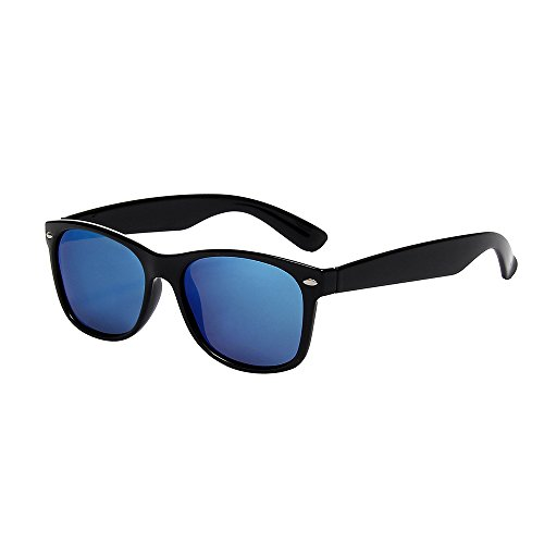 Shiratori Classic 80s Vintage Style Design Polarized Sunglasses Blue