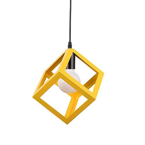 OutTop(TM) Lamp Hanger Creative Chandeliers Nordic Modern Minimalist Iron for Bar Restaurant Living Room (Orange)]()