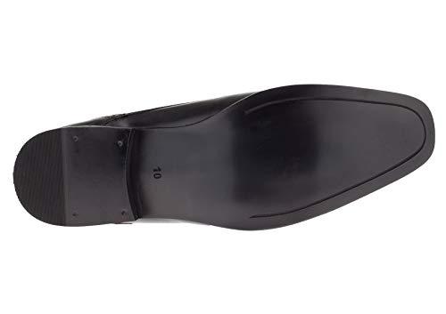 Gino Valentino Men's Leather Dress Shoe Lace-Up Nico Oxford (43 M EU / 10 D(M) US, Black)