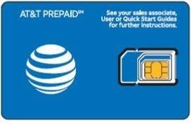 AT&T Nano Sized SIM Card for iPhone 5s, 6, 7, 8, and Ipad Air, with iPhone Eject PIN tool (Best Sim For Ipad)
