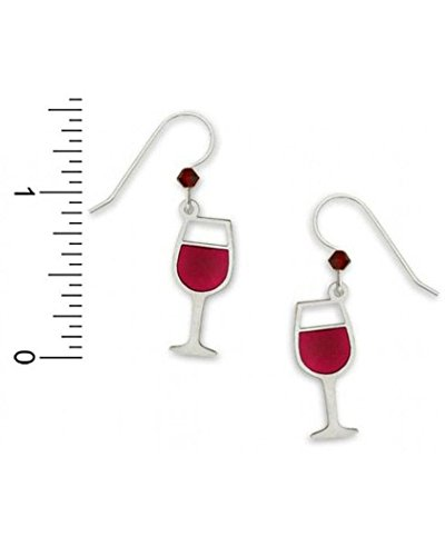 Sienna Sky Red Wine Glass Drop Earrings 1115 (Wine Glass Earrings)