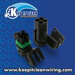 Keep It Clean 11043 Wire Connector Kit Weatherproof 4 Wire Square Connector Kit