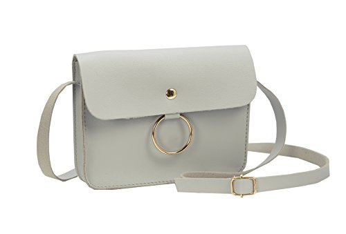 Heshe Body for PU Leather and Case Pouch Cellphone Ladies Bag Womens Cross Grey Bag Small Shoulder rrzxwqgP