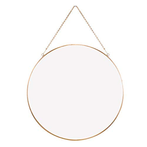 Dahey Wall Hanging Mirror Decor Gold Round Mirror with Hanging Chain for -