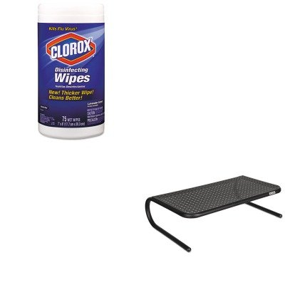 KITASP30336COX01761EA - Value Kit - Allsop Metal Art Monitor Stand (ASP30336) and Clorox Disinfecting Wipes (COX01761EA)