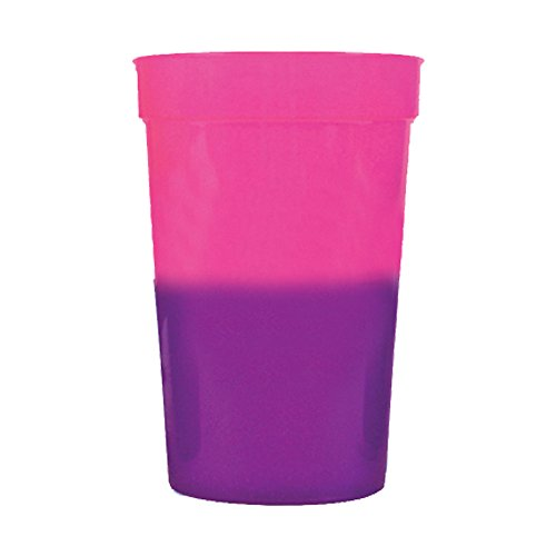 12oz Color Changing Stadium Cup, Set of 12, Pink to Purple -