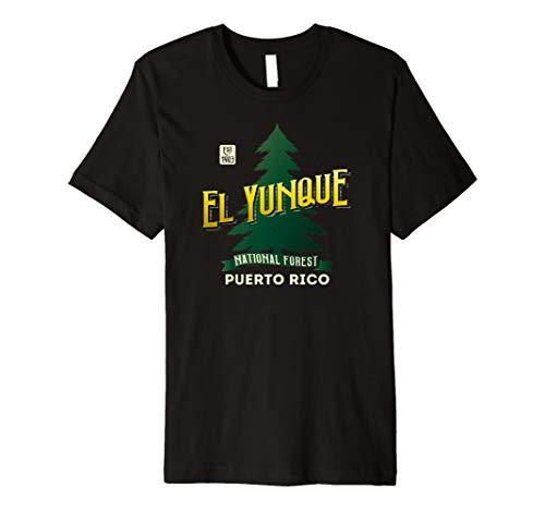 El Yunque National Forest Retro Logo Puerto Rico Premium T-Shirt