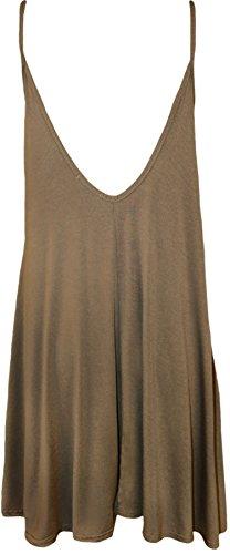 WearAll swing taille mini 54 44 Femmes top robe sangles Grande Moka Robes Tailles rARnxpwr