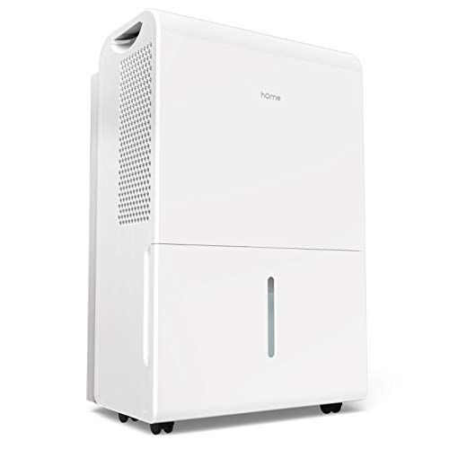 hOmeLabs 4000 Sq Ft Dehumidifier 70 Pint Energy Star Safe Mid Size Portable Dehumidifiers for Basements & Large Rooms with Fan Wheels and Continuous Drain Hose Outlet to Remove Odor ()
