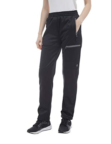Little Donkey Andy Womens Fleece Lined Sweatpants with Pockets, Thermal Athletic Pants, Open Bottom, Stylish Colors