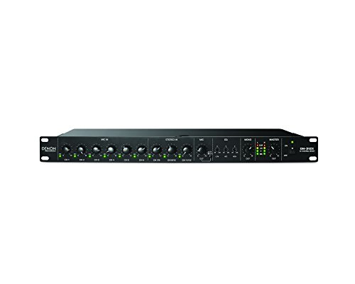 Denon DN-312X 12 Channel 1U Rack-Mounted Line Mixer with Mic Priority by D&M
