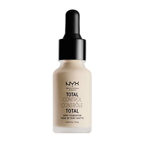 NYX PROFESSIONAL MAKEUP Total Control Drop Foundation - Porcelain, With Pink Undertones