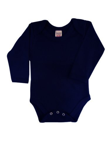 2e001ef95eb3 BabywearUK Body Vest Env Neck Long Sleeved - Navy - 0-3 months - British  Made  Amazon.co.uk  Clothing