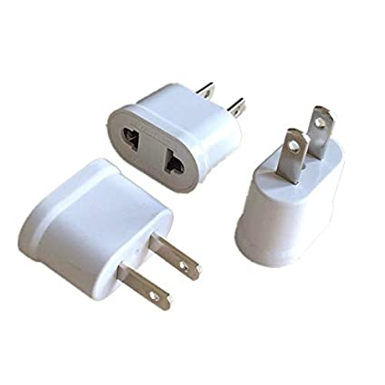 b96d1eef531 DeemoShop US American Plug Adapter 2 Pin EU European Euro Europe AU KR to US  JP Travel Adapter Plug Outlet Power Electric Socket Outlet - - Amazon.com