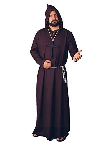 (Rubie's Men's Monk Ghoul Costume Robe, Black, Standard)