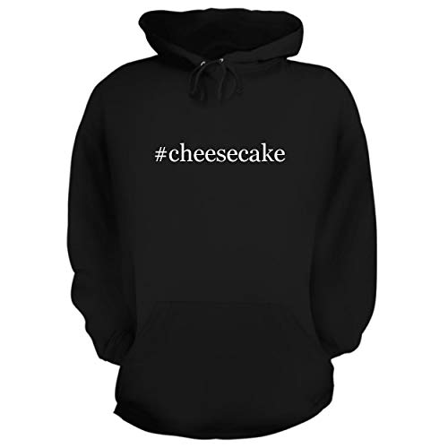 BH Cool Designs #Cheesecake - Graphic Hoodie Sweatshirt, Black, Small