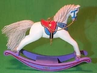 Rocking Horse #7 in the series 1987 Hallmark Keepsake Ornament Rocking Horse Keepsake