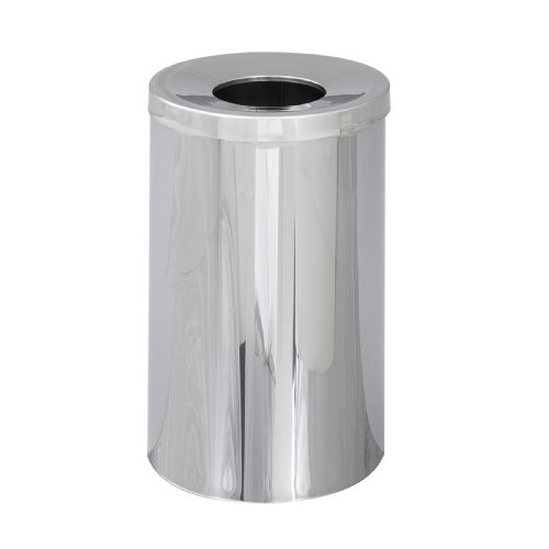 Safco Products 9695 Reflections By Safco Open Top Waste Receptacle, (35 Gal Open Top Receptacle)