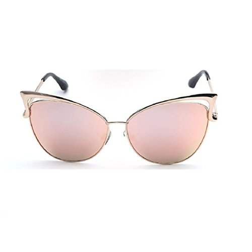 Ikevan 2017 Fashion Retro Men Women Clear Lens Glasses Metal Spectacle Frame Myopia Eyeglasses Sunglasses - Frames Pink Spectacle