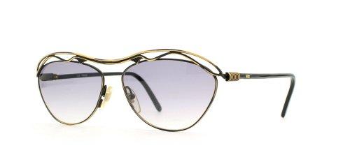 Fendi 148 201 Gold and Black Authentic Women Vintage Sunglasses