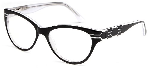 Womens Cat Eye Prescription Glasses Fashion Frames in Black White