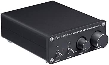 Subwoofer Amplifier Mono Amp Full-Frequency and Sub Bass Switchable Amplifier One Channel Home Theater Single Power Subwoofer Class D Amp Fosi Audio 220Watt x 1 TP-03
