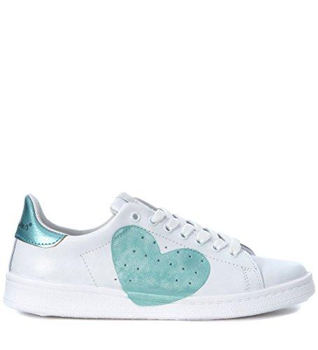 In Nira Acquamarina Cuore Daiquiri Pelle Rubens Bianco Bianca E Sneaker Azzurro zt7tnxqr