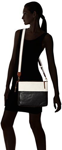 bandoulière Black Damentasche Crossbody x cm femme white H nbsp; Fossil 99x25 6 B T Fiona 08x30 Noir 16 Sacs X8fFqd