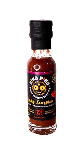 Lady Scorpion Chilisaus / Heetheidsniveau: 9 van de 10 / Small Batch Chilisaus / Venezuelan Hearts, Made in Germany