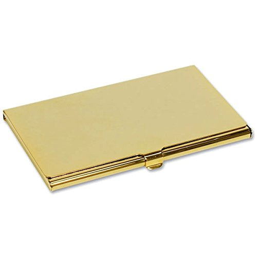 Personalised Gold Plated Business Card Holder (Holder Gold Plated)