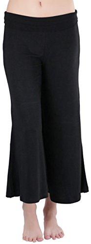 ToBeInStyle Women's Premium Fabric Gaucho Capri Pants - Black - Medium