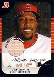 2005 Bowman Relics #120 Vladimir Guerrero Angels Bat Baseball Card (Memorabilia/Game Used) NM-MT