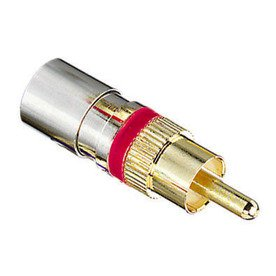 Ideal Omniseal Connector Compression Tool - IDEAL 4-Pack Brass Compression RCA Connectors