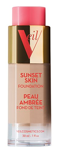 Veil Cosmetics Sunset Skin Liquid Foundation (2N) Makeup for All Skin Types | Vegan & Cruelty-Free | Oil Free | Paraben Free