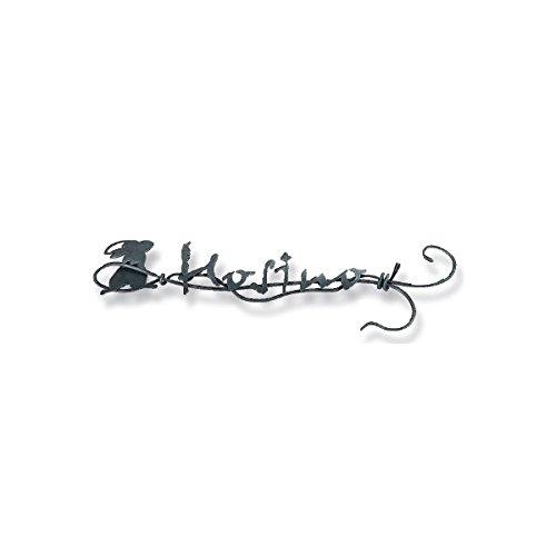 オンリーワン クラシカルアイアンネーム ウサギ NL1-N04 『表札 サイン 戸建』 ブロンズ  本体カラー:ブロンズ B00ATKI800