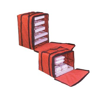 American Metalcraft PB1914 American Metalcraft PB1914 Pizza Delivery Bag with Rack, Deluxe, Holds Up To 6 Pizza Boxes, 14'' Height, 19'' Width, 19'' Length, by American Metalcraft