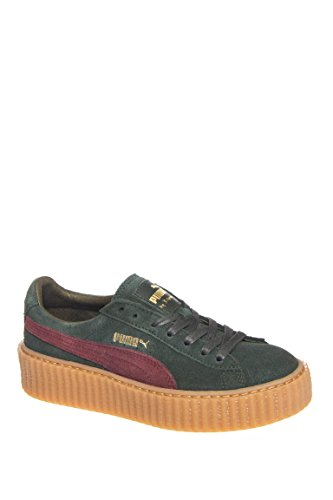 Puma Speed Cat Athletic Shoe - PUMA Women's Rihanna x Suede Creepers Green/Bordeaux/Gum Athletic Shoe
